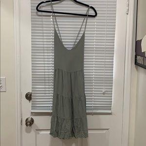 Green Babydoll Mini Dress Size Small